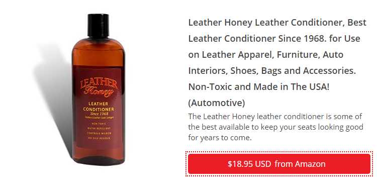 LEATHER HONEY LEATHER CONDITIONER, BEST LEATHER CONDITIONER